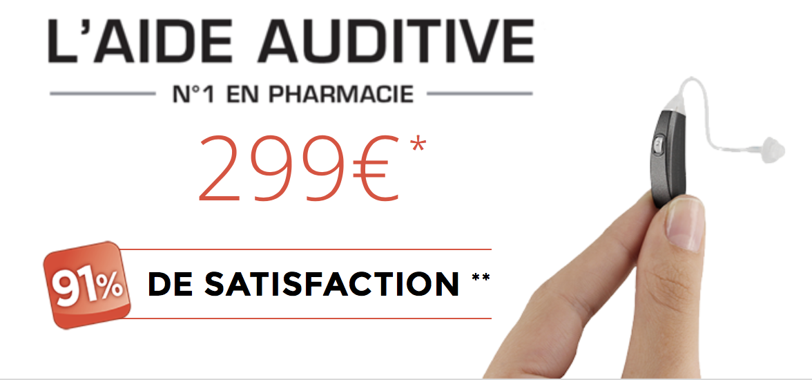 Sonalto, aide auditive N°1 en pharmacie
